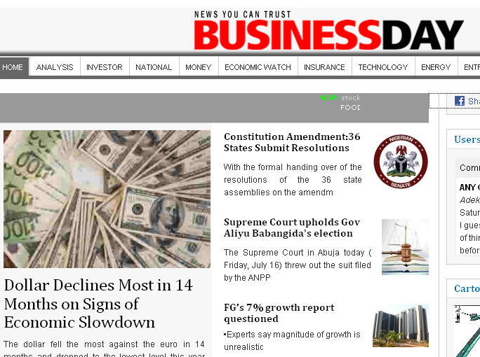 Business Day website
