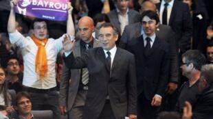 Strasbourg, mardi 6 mars. Pour François Bayrou, les destins de la France et de l'Europe sont liés.