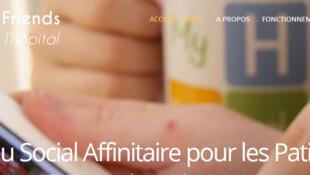 La page d'accueil du site «My Hospi Friends».