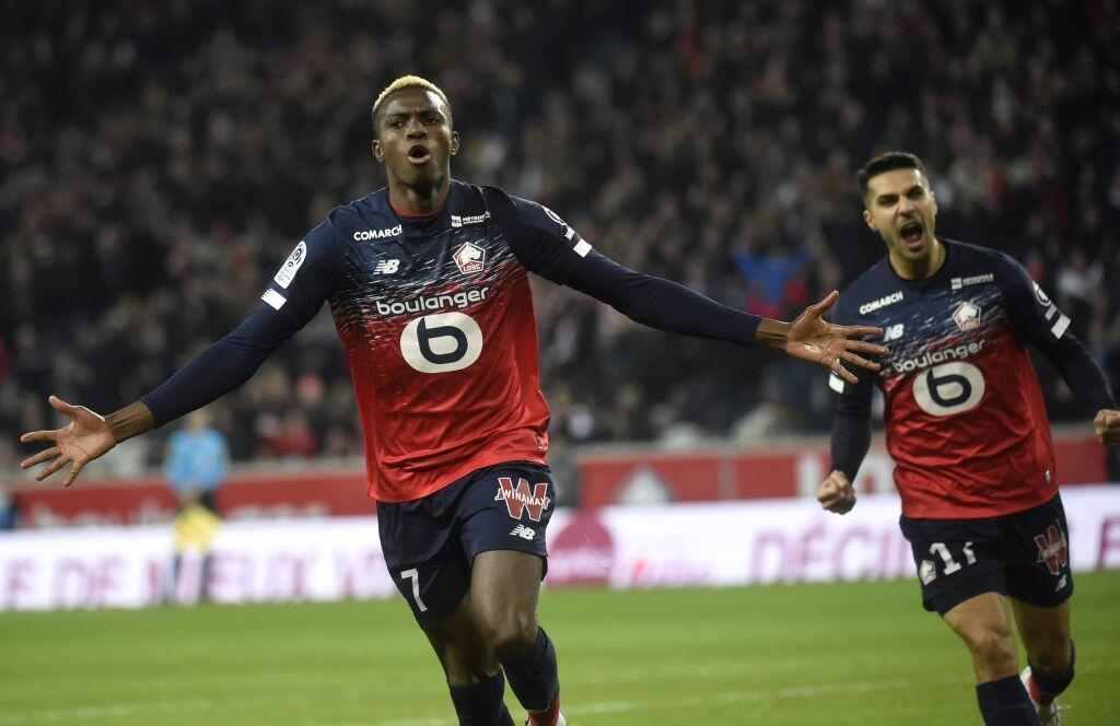 Doing what he does best: Victor Osimhen.scores again for his club Lille.
