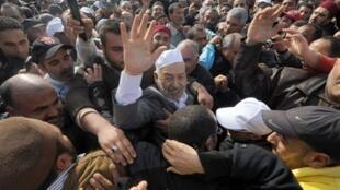 Rached Ghannouchi, le chef du parti islamiste tunisien Ennahda, à Tunis le 30 janvier 2011.