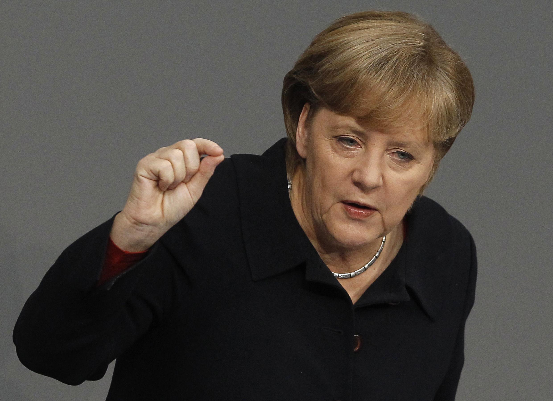 Выступление канцлера Ангелы Меркель в Бундестаге 2 декабря 2011