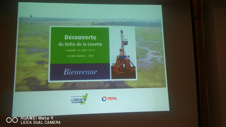 Extrait de la présentation samedi 10 août des caractéristiques du gisement de pétrole découvert dans la région de la Cuvette, au nord du Congo.