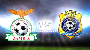 Emblemas das equipas de futebol da Zâmbia e da RDC que empataram este domingo 1/1 no CAN 2015