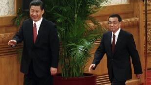Ngày 15/11/2012, ông Tập Cận Bình (trái) ra mắt báo chí trên cương vị lãnh đạo đảng Cộng sản Trung Quốc, ít tháng sau ông phát động chiến dịch chống tham nhũng rộng lớn trong đảng.