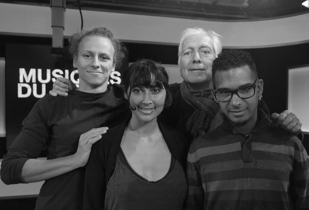 Bino Waro, Ann O'aro, Philippe Conrath et Teddy Doris à RFI.