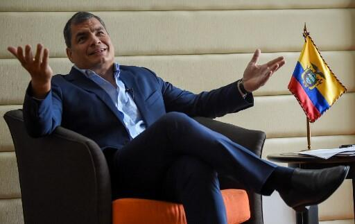El expresidente ecuatoriano Rafael Correa, en septiembre de 2017 durante una entrevista con la AFP.