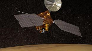 Một vệ tinh trên quỹ đạo.