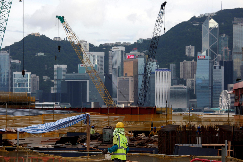 Công trường xây dựng nhà ga Tây Cửu Long (West Kowloon) ở Hồng Kông, 21/07/2017.