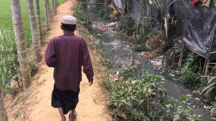 Tại một trại tị nạn của người Rohingya ở Bangladesh. Ảnh chụp ngày 09/02/2018.