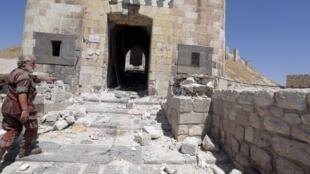 Le conflit syrien a eu un impact considérable sur le patrimoine du pays. Ici, la citadelle d'Alep.