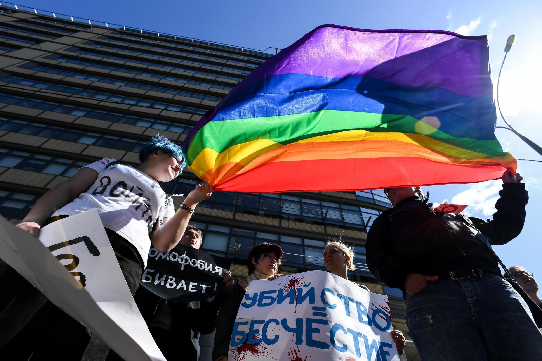 ЛГБТ-активисты в Москве в мае 2017 года