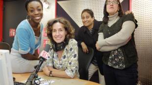 de gauche à droite: Anais AGBO, Emmanuelle BASTIDE, Vaiju NARAVANE, Ana Navarro PEDRO
