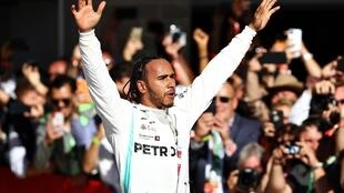 Six pack: Lewis Hamilton moved nearer to Michael Schumacher's Formula 1 drivers' championship record.