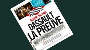 Capa do jornal Libération com as supostas provas contra Dassault