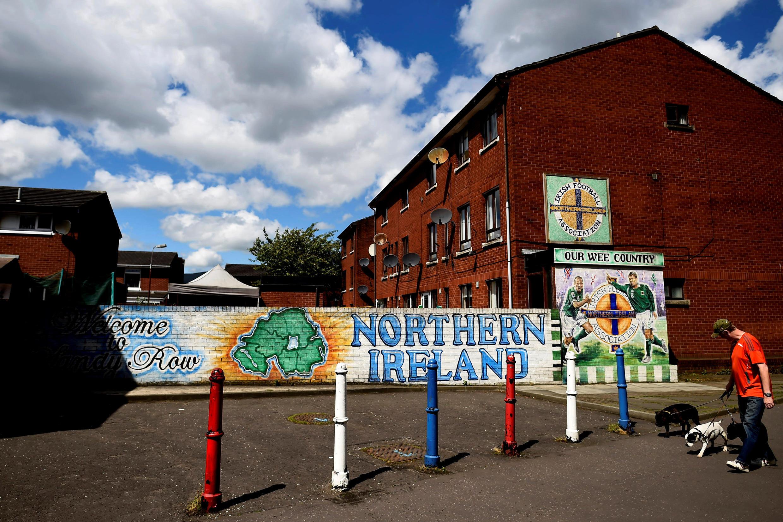 El barrio pro Reino Unido Sandy Row en la ciudad de Belfast, en Irlanda del Norte, el 19 de mayo de 2017.