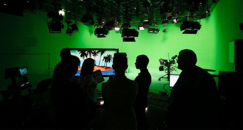 Tại một trường quay của kênh Russia Today