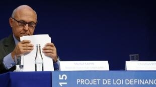 French Finance Minister Michel Sapin gave a cautious welcome to the growth figures