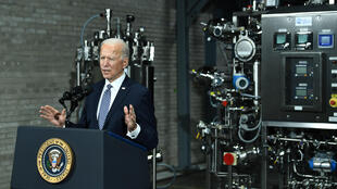 US President Joe Biden, seen touring a manufacturing site for Pfizer's Covid-19 vaccine in Portage, Michigan, has moved quickly to revive alliances