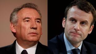 Nesta quarta-feira (22) foi anunciada uma aliança entre o candidato liberal Emmanuel Macron (direita) e François Bayrou, de centro.