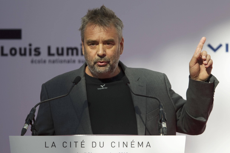 Luc Besson attends the inauguration of the 'Cite du Cinema' movie studios in Saint-Denis, near Paris, 21 September 2012.
