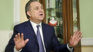 Ministan wasanni na kasar Rasha, Vitaly Mutko, yayin tattaunawa da kamfanin dillancin labarai na Reuters, a birnin Moscow.