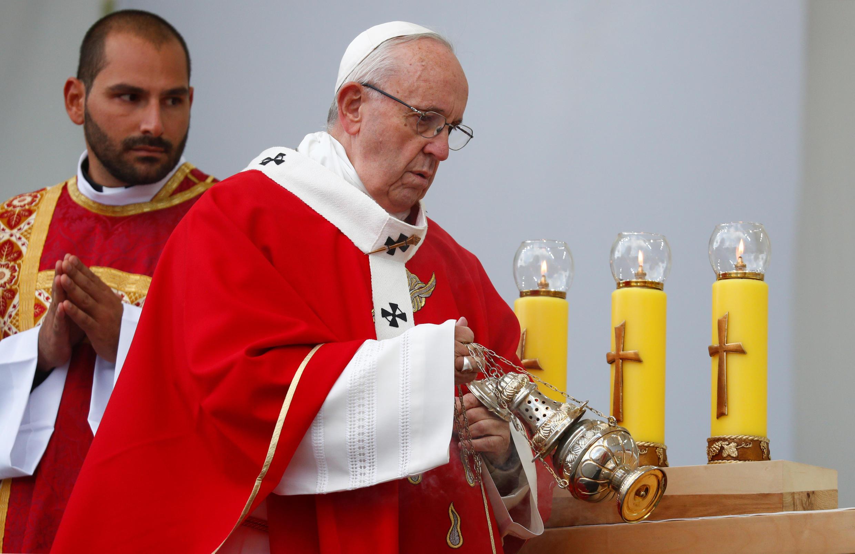 Giáo Hoàng Phanxicô cử hành thánh lễ tại Tallinn, Estonia, ngày 25/09/2018.