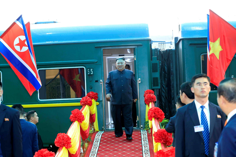 Kim Jong-Un a su llegada a Vietnam, en Dong Dang, este 26 de febrero de 2019.