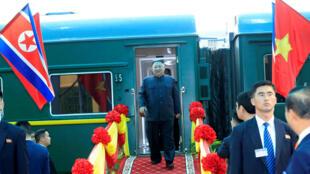 Lãnh đạo Bắc Triều Tiên Kim Jong Un đến ga Đồng Đăng sáng 26/02/2019.