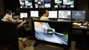 Sala de control televisión