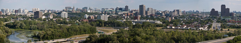 Vista de Ottawa, a capital do Canadá.