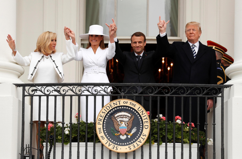 Второй день государственного визита в США. На балконе Белого дома. 24 апреля 2018.