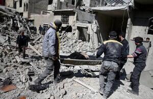 """Gouta: ONU classifica bombardeios sírios de """"monstruosa campanha de aniquilação""""."""