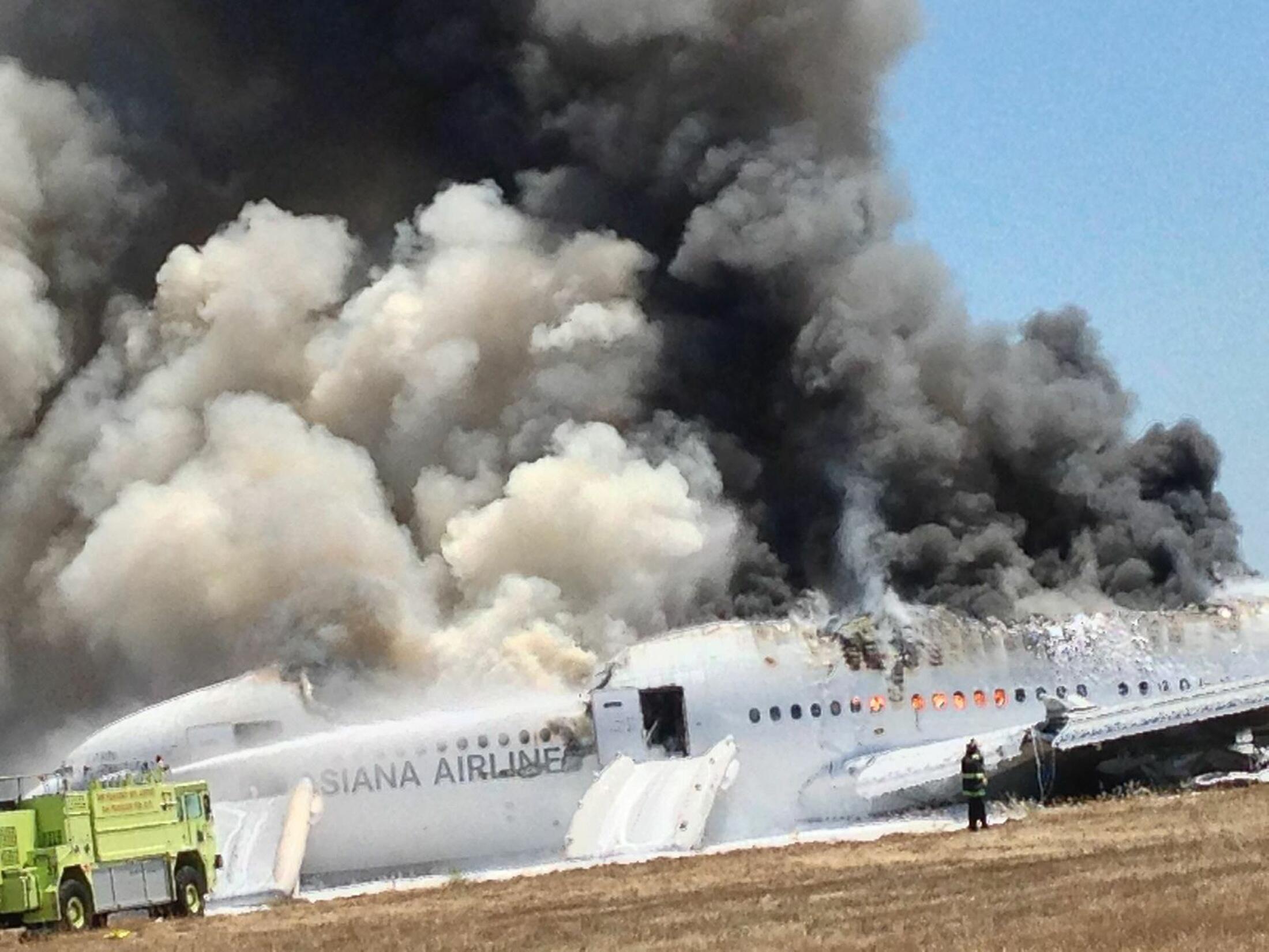 Le crash du Boeing 777 d'Asiana Airlines le 6 juillet 2013 à San Francisco.