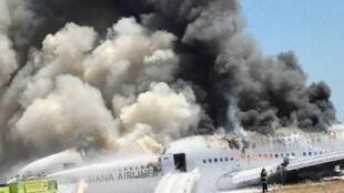 Le crash du Boeing 777 d'Asiana Airlines à San Francisco a fait deux morts parmi les passagers.