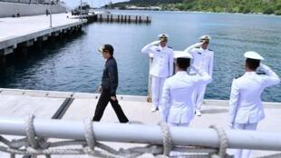 Tổng thống Indonesia, ông Joko Widodo thăm quần đảo Natuna ngày 08/01/2020.