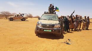 Des militants du Mouvement du salut de l'Azawad (ASM), l'un des belligérants de la Guerre du Mali.