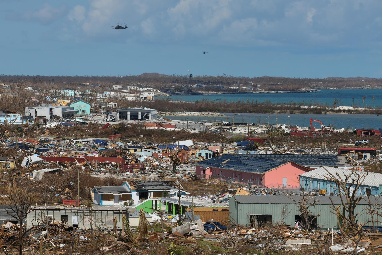 La ville de Marsh Harbour, dans l'île de Grand Abaco, dévastée après le passage de l'ouragan Dorian aux Bahamas, le 9 septembre 2019.