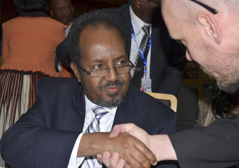 Somalia's President Hassan Sheikh Mohamud in Addis Ababa, 27 January, 2013