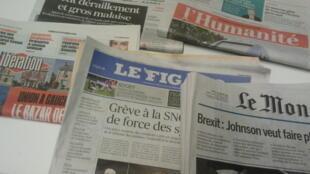 Primeiras páginas dos jornais franceses de 21 de outubro de 2019