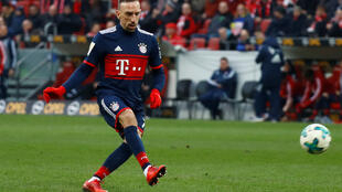 Franck Ribery scored Bayern Munich's first goal in their 2-0 win at Mainz.