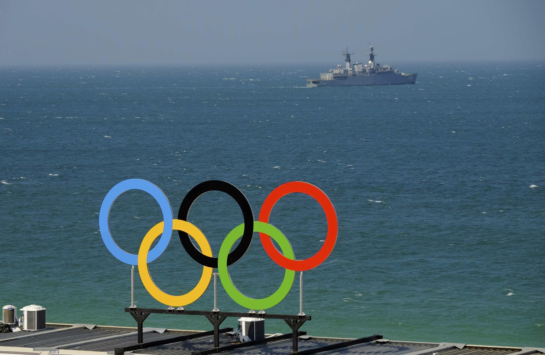 La playa de Copacabana días antes del inicio de los Juegos Olímpicos en Rio de Janeiro, el 2 de agosto de 2016.
