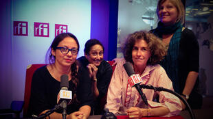 de gauche à droite: Paola Martinez, Vaiju Naravane, Emmanuelle Bastide et Anuliina Saivolainen.