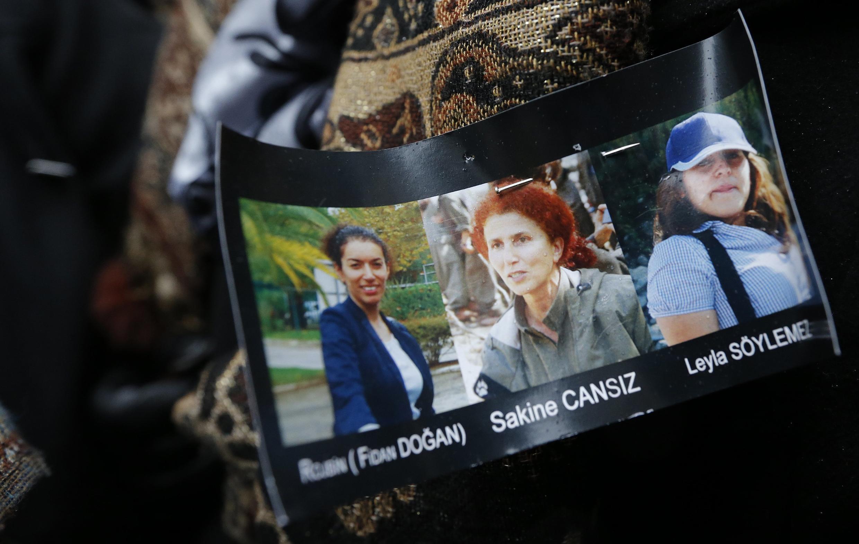 Photos des trois militantes kurdes assassinées à Paris, le 10 janvier 2013.