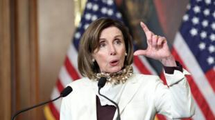 Nancy Pelosi, la cheffe démocrate de la Chambre des représentants qui a adopté jeudi 23 avril un nouveau plan d'aide massif pour faire face aux conséquences du coronavirus.