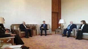دیدار محمد جواد ظریف، وزیر امور خارجه ایران با بشار اسد، رئیس جمهور سوریه