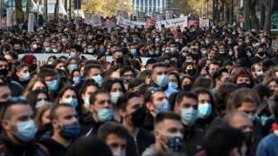 Grèce - Athènes - manisfestations - étudiants - projet police pour les écoles supérieures
