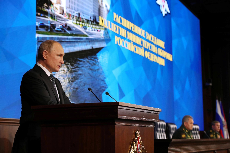 Выступление Владимира Путина на расширенном заседании коллегии минобороны России, 24 декабря 2019.