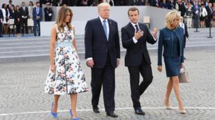 Tổng thống Mỹ Donald Trump cùng phu nhân đến dự lễ Quốc Khánh Pháp 14/07 theo lời mời của đồng nhiệm Pháp Emmanuel Macron.