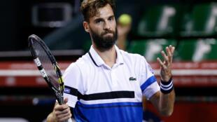 Benoît Paire a été éliminé lors du premier tour du tournoi BNP Paribas Masters à l'AccorHotel Arena à Paris.